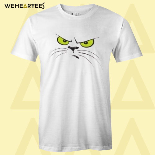 Angry cat face T Shirt