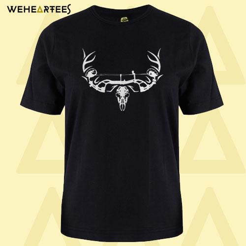 Archery Bowhunting Deer Skull T Shirt