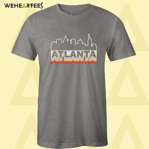 Atlanta Skyline Vintage Retro T Shirt