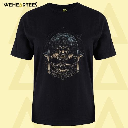 Aztec Calendar Skull T Shirt