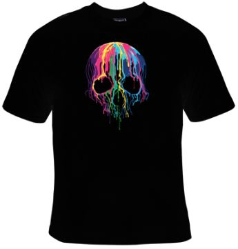 Melting-Skull-T-Shirt-ZK01