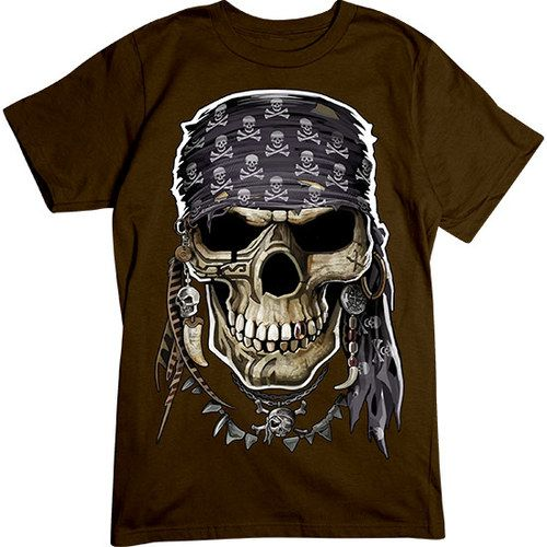 Pirate-King-Skull-T-shirt-ZK01