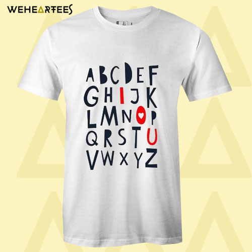 ABC I Love You T Shirt