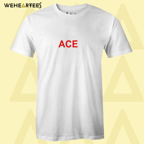 ACE Red Text T shirt