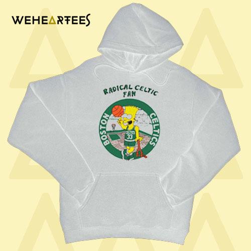 Bart Simpsons Radical Celtics Hoodie