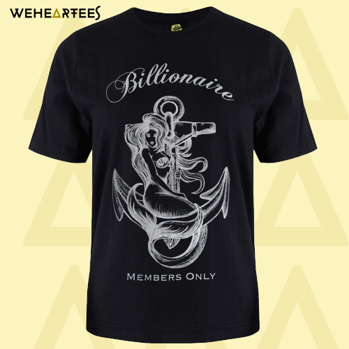 Billionaire Members Only printed T-shirt