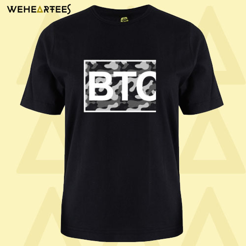 Bitcoin Black and White Camo T-Shirt
