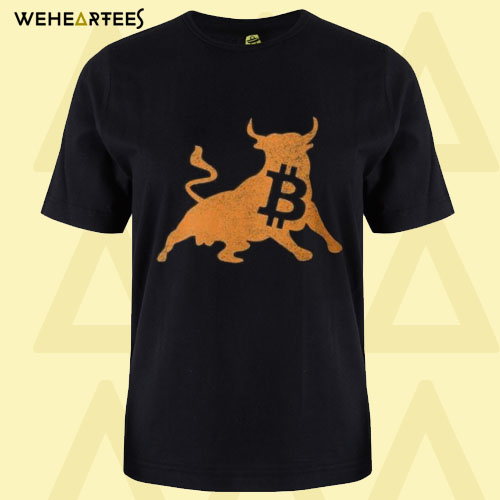 Bitcoin Bull Crypto Currency T-Shirt