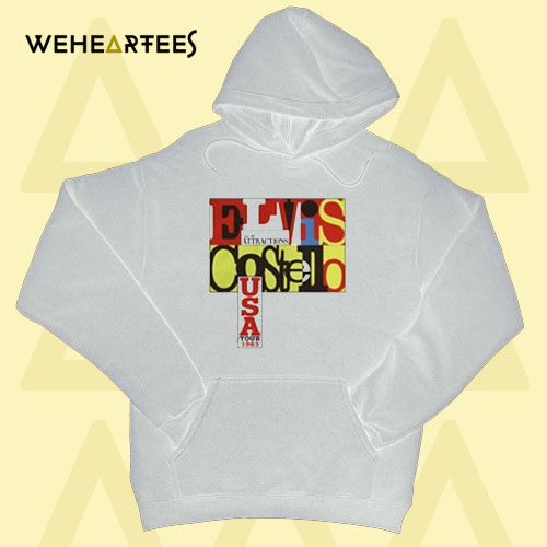 Elvis Costello and the Attractions Clocking in Across America 1983 Hoodie