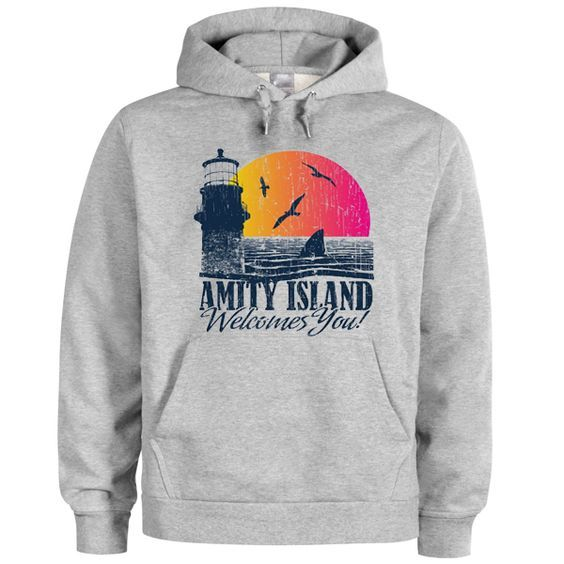 Amity island welcomes you hoodie DAP