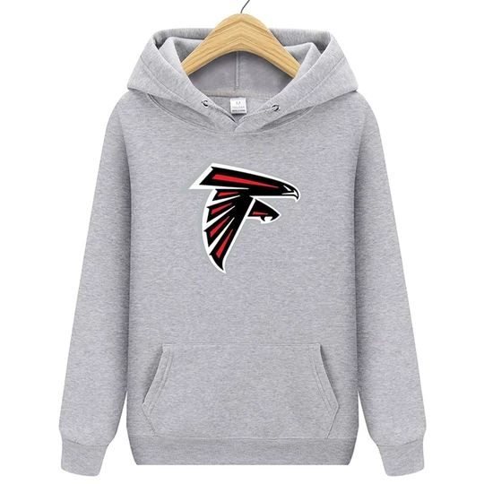 Autumn Hot Fashion Men Sweatshirts 2018 New ATLANTA Falcons Printing Harajuku Pullover Long Sleeve Cotton Male Hoody DAP