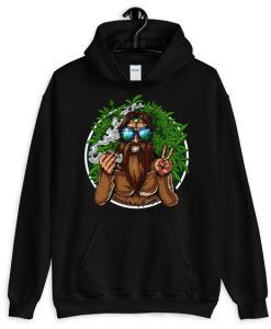 Bigfoot Smoking Hoodie DAP