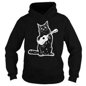 Black Cat Guitarist Hoodie DAP