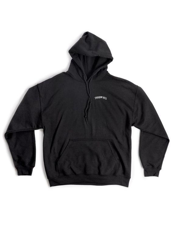 Black Oversized Merch Hoodie DAP