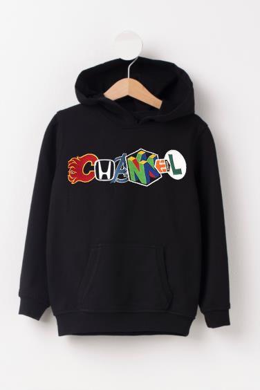 Channel Unique Logo Black hoodies DAP