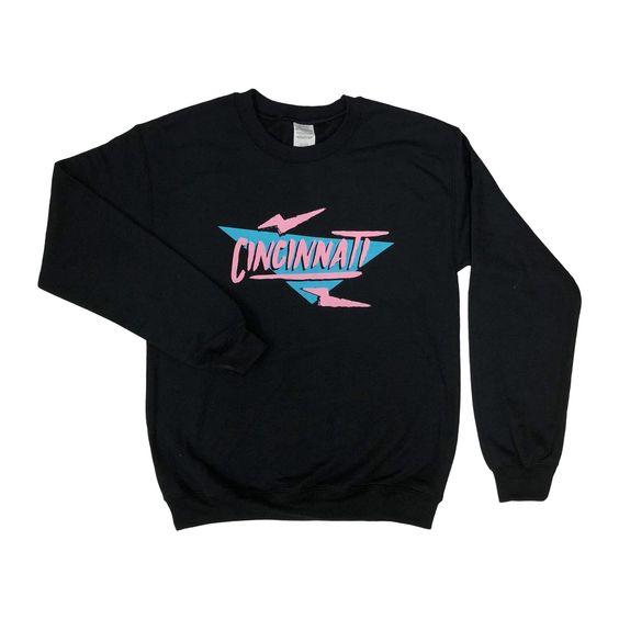 Electric 90's Cincinnati Crewneck Sweatshirt DAP