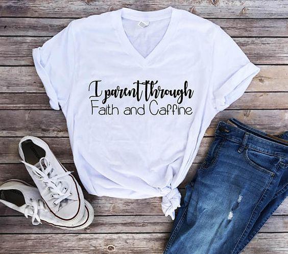 Faith and Caffeine, Christian Shirts DAP