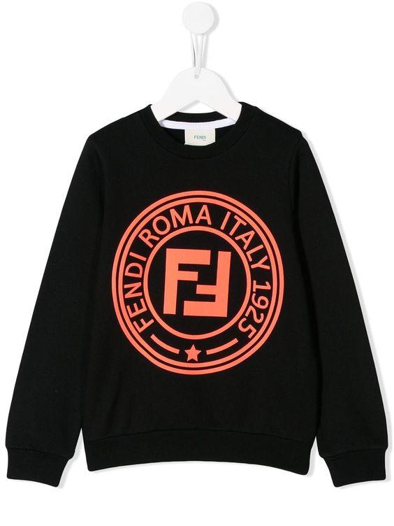 Fendi Kids Printed Logo Sweatshirt DAP