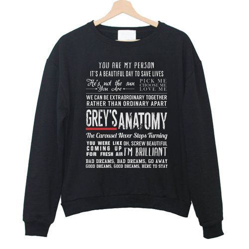 Greys Anatomy Sweatshirts DAP