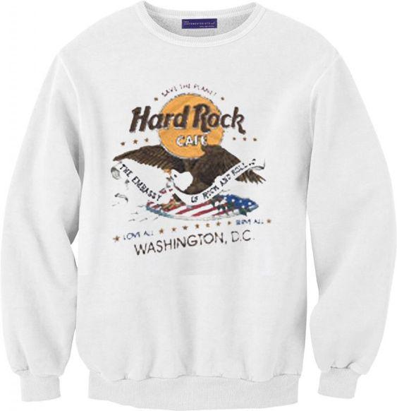 Hard Rock Cafe Washington DC Unisex Sweatshirt DAP