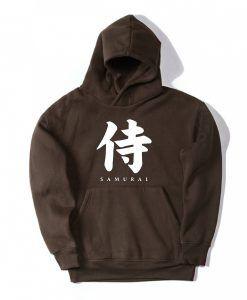 Japan Samurai Brown Hoodie DAP