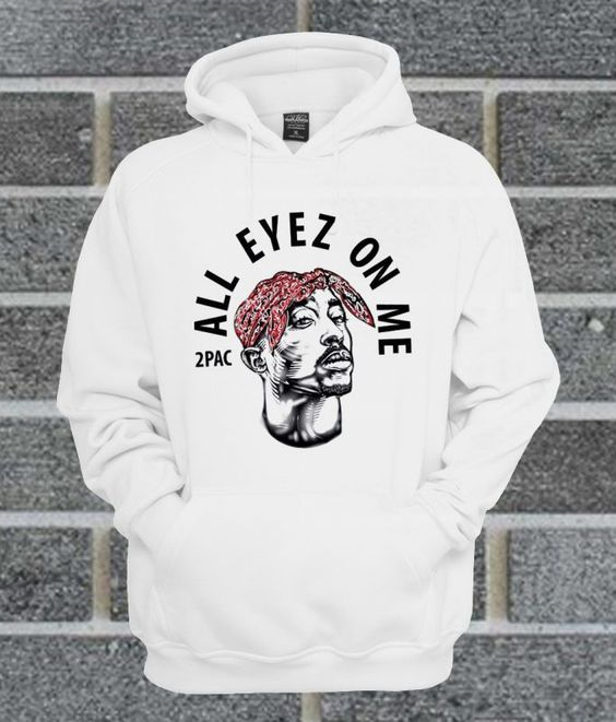 Official Tupac 2 Pac All Eyez On Me Hoodie DAP