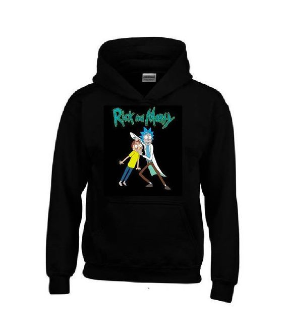 RICK and MORTY Black Hoodie DAP