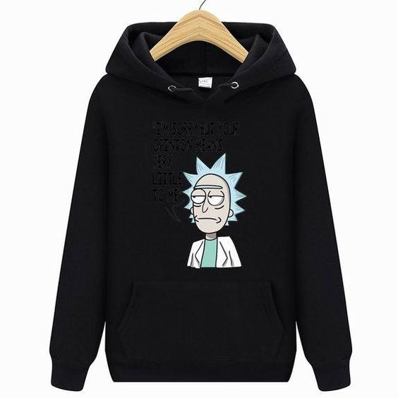 Rick y morty themed hoodie DAP