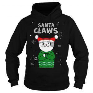 Santa Claws Cat Hoodie DAP