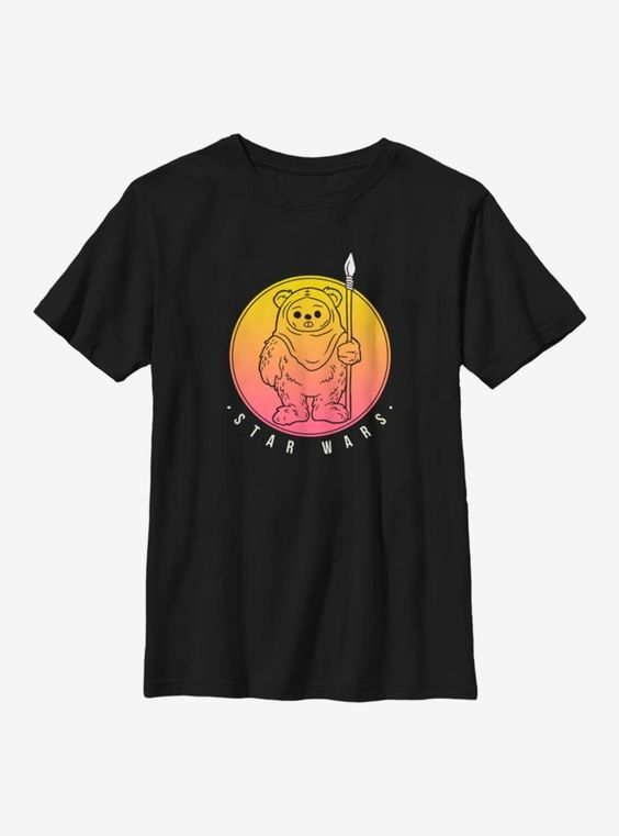 Star Wars Ewok Sunset Youth T-Shirt DAP