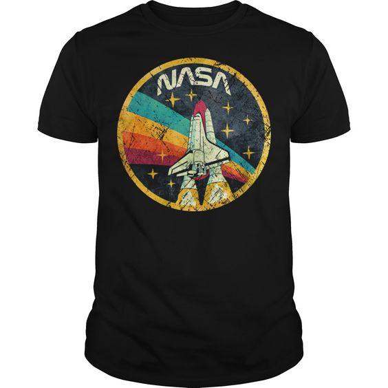 Usa Space Agency Vintage Colors V03 T-shirt DAP
