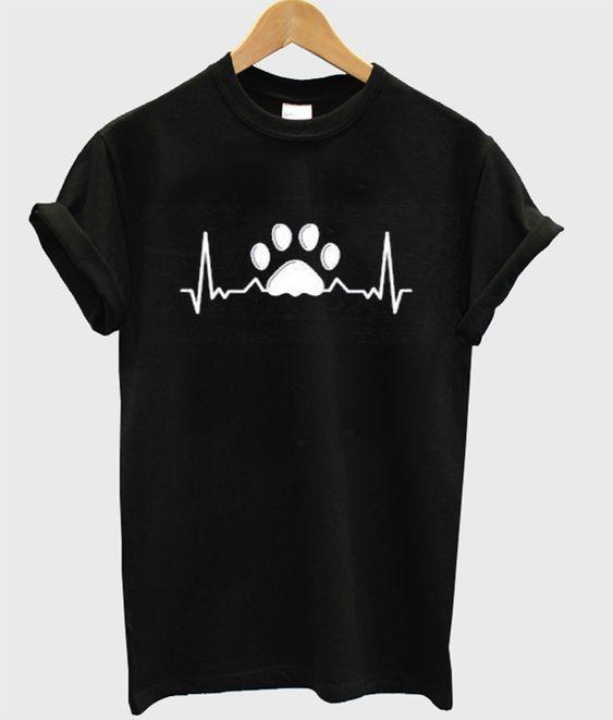 paw heartbeat t-shirt DAP