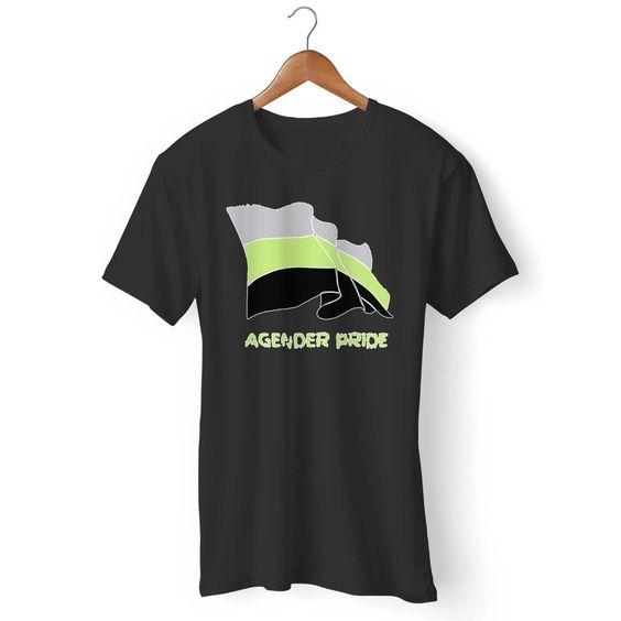 Agender Pride Flag Gildan Man's T-Shirt DAP