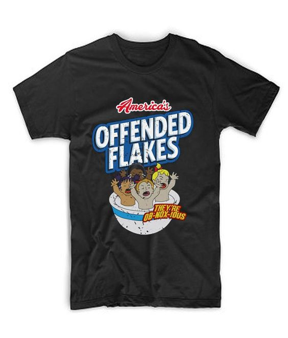 America's Offended Flakes T Shirt DAP