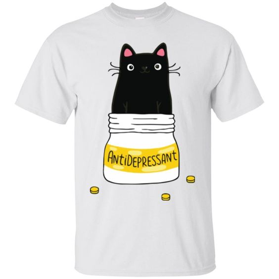 Antidepressant Cat Tshirt DAP