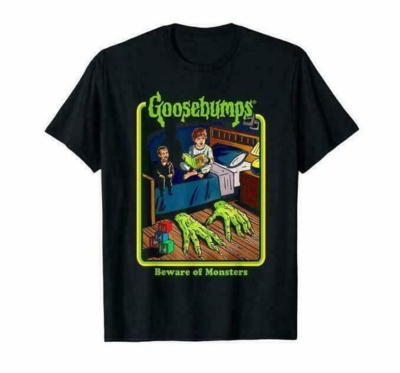 Authentic Goosebumps Bedtime Retro Scary T-Shirt DAP