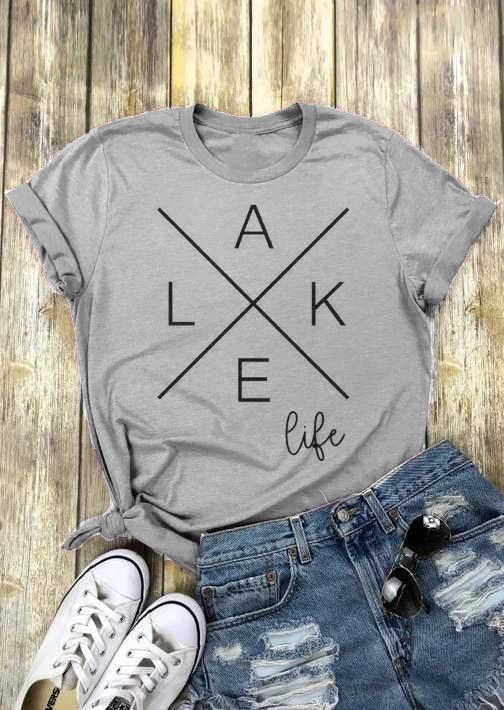 L-A-K-E Life Graphic TeeShirtDAP