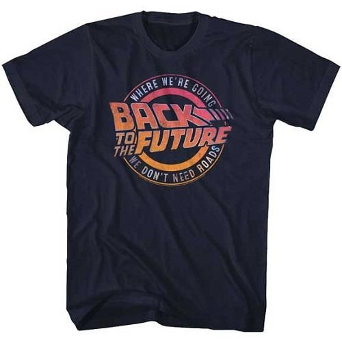 MEN'S BACK TO THE FUTURE LOGO & QUOTE LIGHTWEIGHT TEEShirtDAP