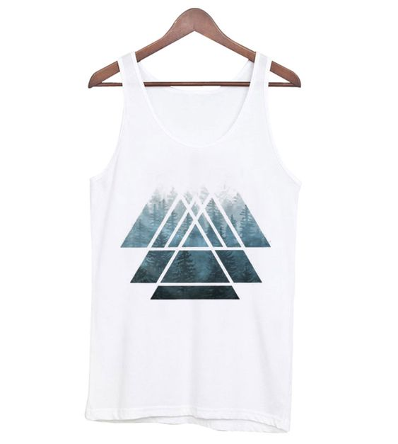 Sacred Geometry Triangles – Misty Forest Tank Top DAP