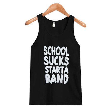 School Sucks Starta Band Tanktop DAP