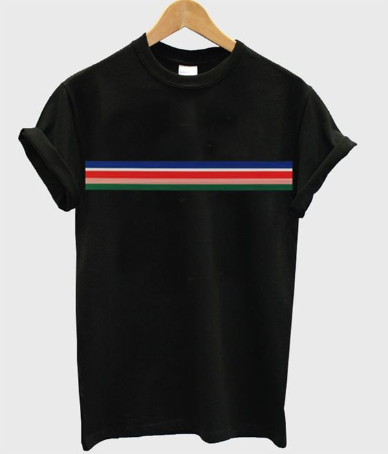 Stripe rainbow t-shirt DAP