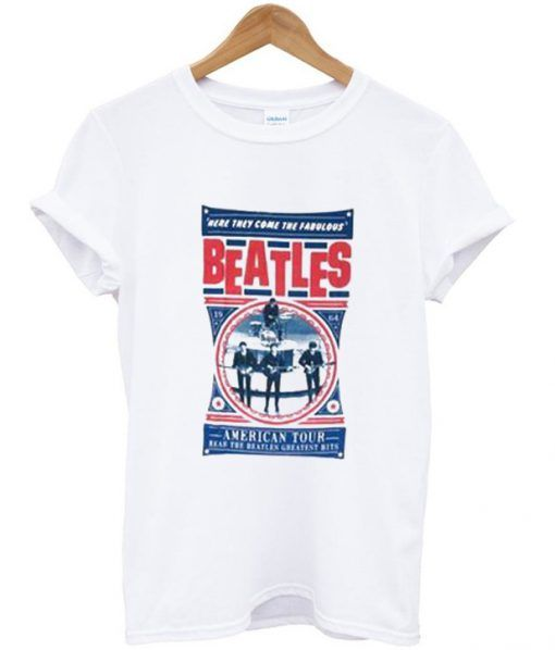 The Beatles Here They Come The Fabulous American Tour T Shirt DAP