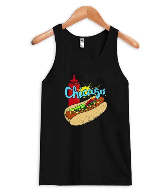 Chicago Hot Dog Tank TopDAP