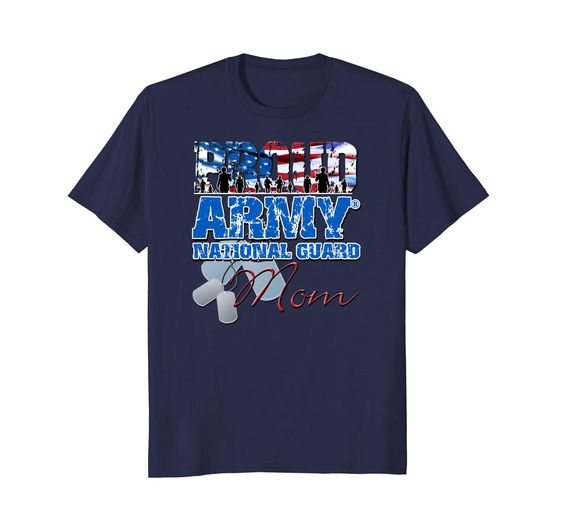 Army National Guard Mom USA Flag Shirt DAP