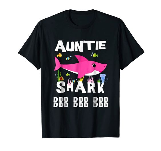 Auntie Shark T Shirt DAP