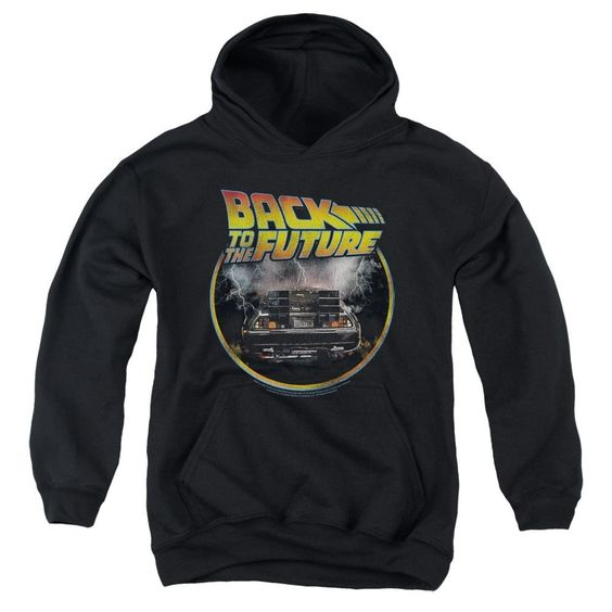 Back To The Future Back Youth Hoodie DAP