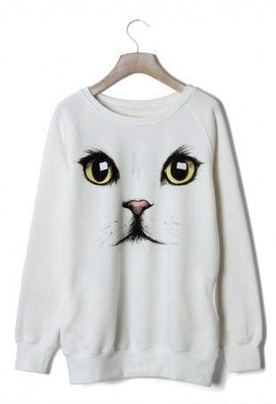 Cat Face Sweatshirt DAP