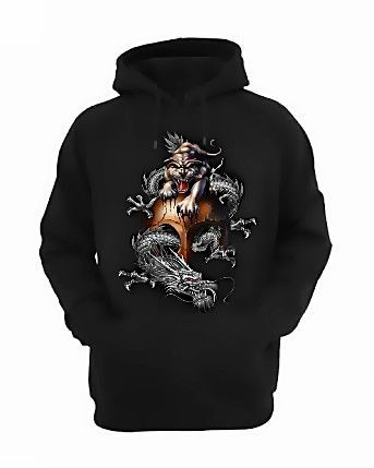 Chinese Tiger and Dragon Hoodie DAP