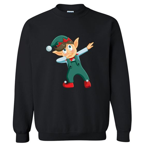 Christmas Dabbing Boy Elf Sweatshirt ZNF08