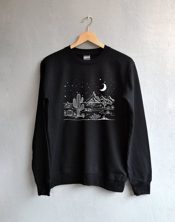 Desert starry night Sweatshirt DAP